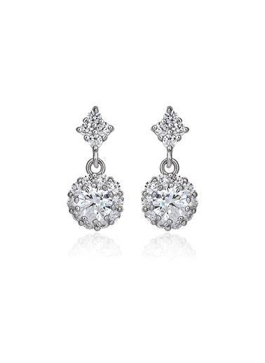 1,20 ct Pırlanta Efekt Altın Rosary Küpe-Tophills Diamond Co.